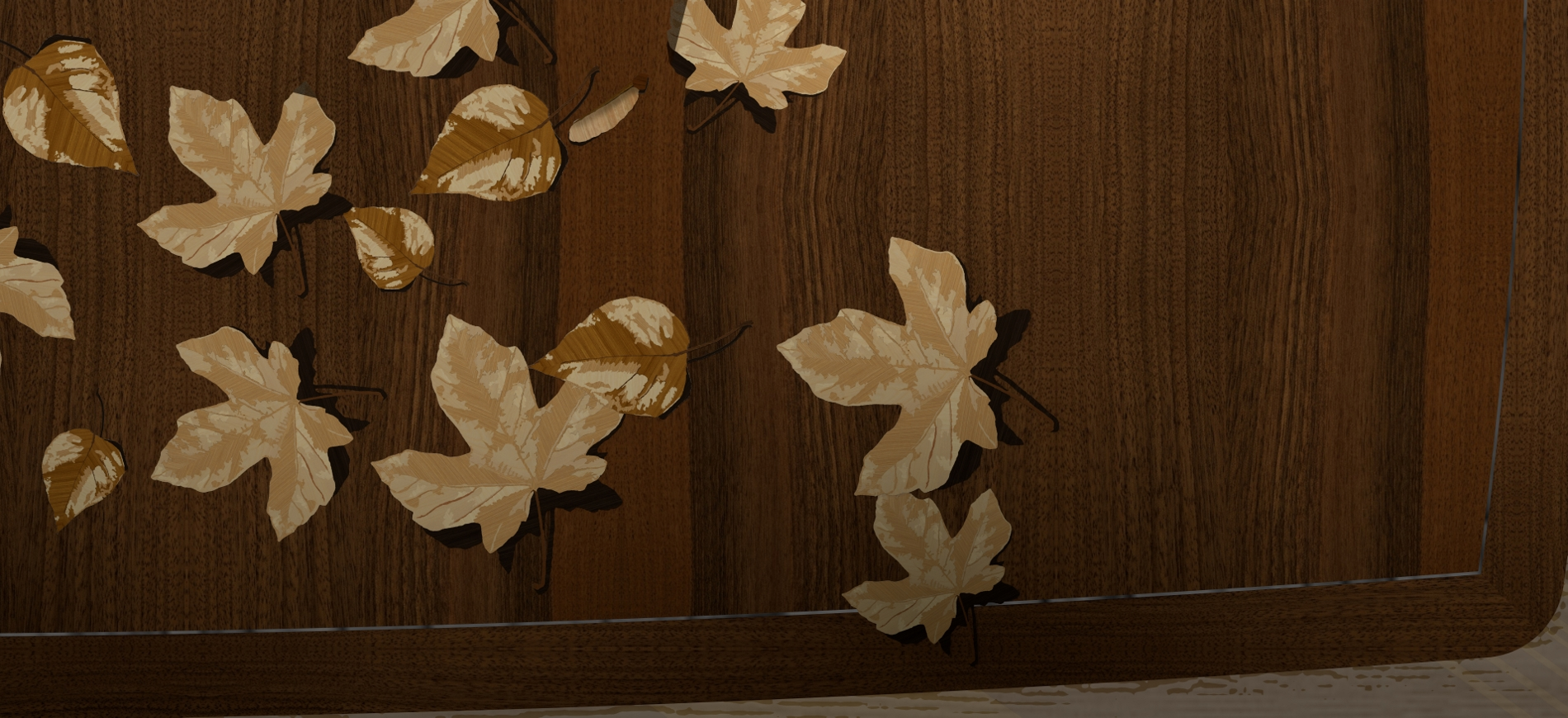 Close up of Marquetry--Rendering