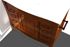Rendering of Walnut Vanity