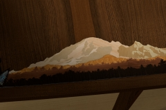 Mt Baker In Marquetry--rendering