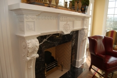 "Carved and ""Compo"" Mantel"