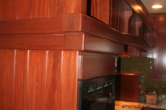 Sapele and Wenge parts to dress up stock cabinets