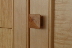 Wooden pull to match decor and precise design requirement.
